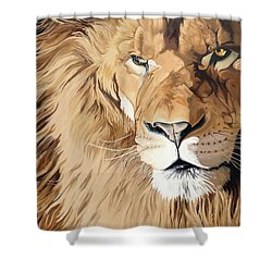 Fierce Protector Shower Curtain