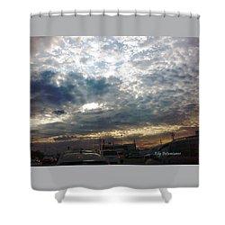 Fierce Skies Shower Curtain