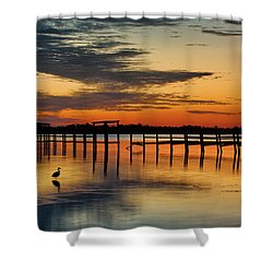 Fiery Beginning Shower Curtain