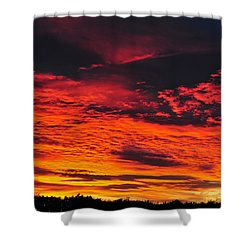 Fiery Close Of Day Shower Curtain