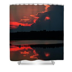 Fiery Evening Shower Curtain