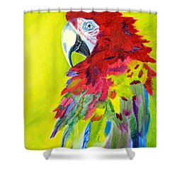 Fiery Feathers Shower Curtain