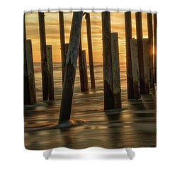 Fiery Kiss Shower Curtain