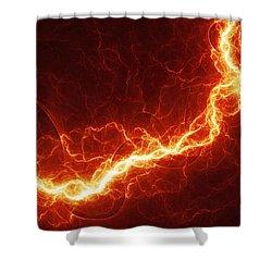Fiery Lightning Shower Curtain