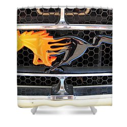 Fiery Mustang Shower Curtain