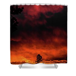 Fiery Sky Shower Curtain by Jason Coward