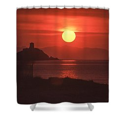 Fiery Sun Rise Shower Curtain