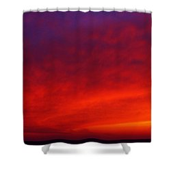 Fiery Vortex Shower Curtain by Kathi Mirto