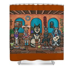 Fiesta Dogs Shower Curtain