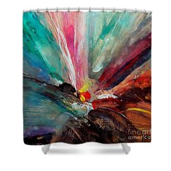 Shower Curtain featuring the painting Fiesta  by Dragica  Micki Fortuna