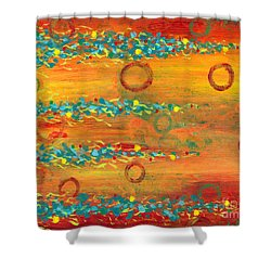 Fiesta Painting Shower Curtain