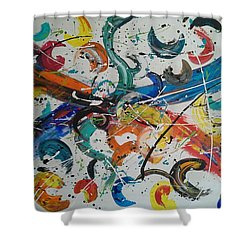 Fiesta White Shower Curtain