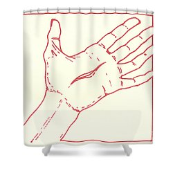Shower Curtain featuring the drawing Fifteenth Station- Jesus Rises From The Dead by William Hart McNichols
