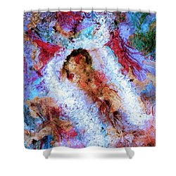 Shower Curtain featuring the painting Fifth Bardo by Dominic Piperata