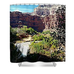 Fifty Falls And Havasupai Falls Havasupai Indian Reservation Shower Curtain