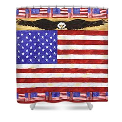Fifty Stars Shower Curtain by Linda Mears