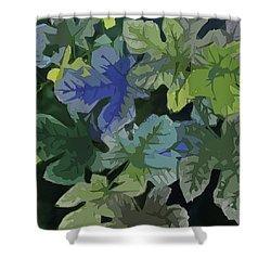 Fig Leaves Shower Curtain