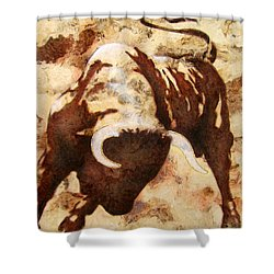 Fight Bull Shower Curtain