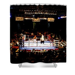 Fight Night Shower Curtain by David Lee Thompson