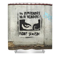 Fight Sexism Shower Curtain by Colleen Williams