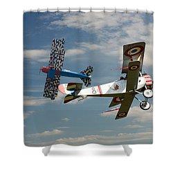 Fighting Colours 2 - Fokker D. Vll - Nieuport Shower Curtain
