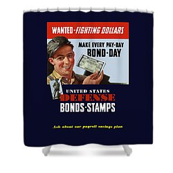 Fighting Dollars Wanted Shower Curtain by War Is Hell Store