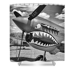 Shower Curtain featuring the photograph Fighting Tiger by Ricky L Jones