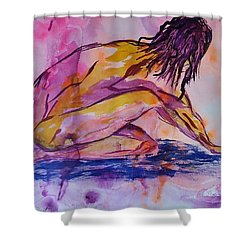 Figurative Abstract Nude 7 Shower Curtain by Judi Goodwin