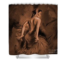 Shower Curtain featuring the painting Figurative Art 007dc by Gull G