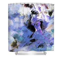 Shower Curtain featuring the painting Figurative Dance Art 509w by Gull G