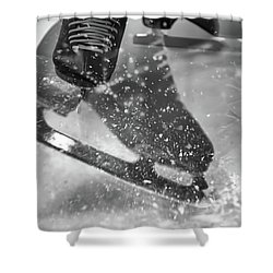 Shower Curtain featuring the photograph Figure Skating Abstract by Rona Black