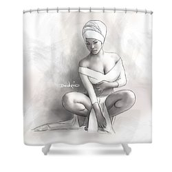 Figure Study 1 Shower Curtain