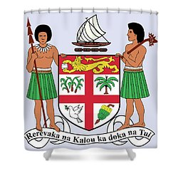 Fiji Coat Of Arms Shower Curtain by Movie Poster Prints