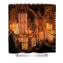 Filaments Shower Curtain