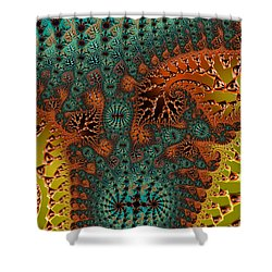 Filigree And Lace Shower Curtain