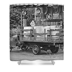 Fill Er Up          B And W Shower Curtain