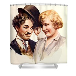 Film Fun Classic Comedy Magazine Featuring Charlie Chaplin And Girl 1916 Shower Curtain
