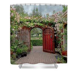 Filoli Garden Entrance Shower Curtain