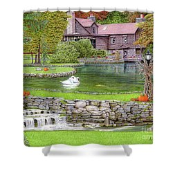 Fin N Feather At Seven Springs Shower Curtain by Albert Puskaric