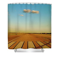 Shower Curtain featuring the photograph Final Approach by Iconic Images Art Gallery David Pucciarelli
