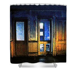 Shower Curtain featuring the digital art Final Days - Choices by Stuart Turnbull
