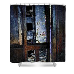 Shower Curtain featuring the digital art Final Days - Past Meets Present by Stuart Turnbull