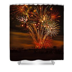 Shower Curtain featuring the photograph Final Display by Robert Bales