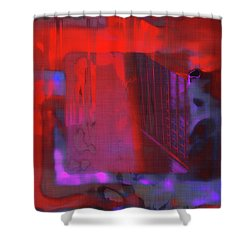 Shower Curtain featuring the digital art Final Scene - Before The Bell by Wendy J St Christopher