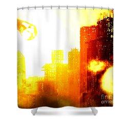 Final Strike Shower Curtain by Richard Rizzo