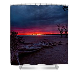 Final Sunset Shower Curtain