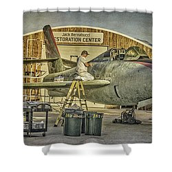 F-84f Thunderstreak Final Touches  Shower Curtain
