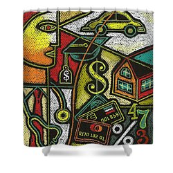 Finance And Medical Career Shower Curtain by Leon Zernitsky
