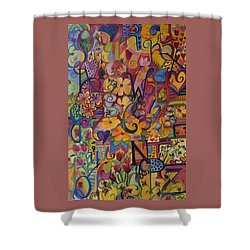Find My A Shower Curtain by Claudia Cole Meek