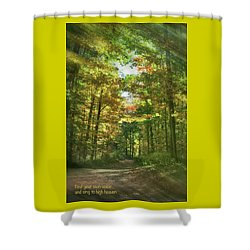 Find Your Own Voice Shower Curtain